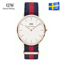watches - top luxury Brand Daniel Wellington Watches color mm DW Watch Women and men Leather strap nylon sports Quartz watch Relojes De Marca
