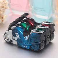 plastic lighter - Windproof Motorcycle Smoking Cigarette Lighters Gas Filling Individuality Cigarette Lighters with Lights Metal and Plastic Material