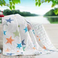 Wholesale extra soft slub cotton fabric summer style quilt QTC03