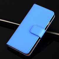 Cheap Phone Cases Real Genuine Leather Wallet Credit Card Holder Stand Case Cover For iPhone 5 6 6Plus DHL Free SCA063