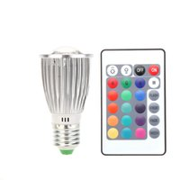 color changing - 16 RGB LED Colorful Bulb Light Lamp Spotlight Color Change with Remote Control SMD LED W E27 V Led Spot light H11172