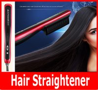 China White Ceramic wholesale KD-388 Hair Straightener Hair Straighten Comb Tourmaline Ceramic Iron Kingdom Brand Hair Styling Tool Brush Flat Iron KD 388