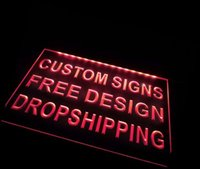 beer fiber - cu tm Sign Design Your Own LED Light Sign Custom Neon LED Signs Bar beer open Dropshipping