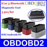 accord colors - 5 Vgate iCar Bluetooth Auto OBD2 Code Reader Scanner iCar3 Bluetooth Diagnostic Interface ELM327 Five Colors Optional