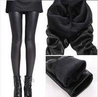 beaver women - New Korea beaver velvet leggings plus size boots Pants imitation thick warm Trousers Women Leather Legging