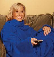 Wholesale 10 LJJH566 top qualtiy Colors Snuggie Fleece Blanket With Sleeves Red Blue Gray khaki