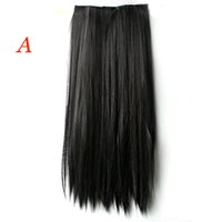 Wholesale Long Straight Hair One piece clips in hair extensions Full head top Colors