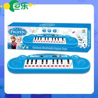 Wholesale Musical instruments toy for kids Frozen girl Cartoon electronic organ toy keyboard electronic baby piano with music song Educational toy