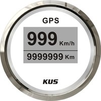 Wholesale 85mm digital GPS speedometer face gauge CCSB with mating antenna white faceplate LED backlight km h for universal truck