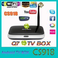 tv antenna - Android TV Box Q7 CS918 Full HD P RK3188T Quad Core Media Player GB GB XBMC Wifi Antenna with Remote Control V763