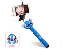 audio control android - Universal Cartoon Monopod Extendable Handheld Stick Audio Cable Wired Tripod Selfie Timer Shutter Control for iPhone Samsung HTC Android IOS