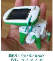 Wholesale DIY in Solar Educational Kit Toy Boat Fan Car Robot Power Moving Dog free