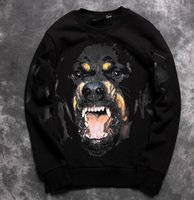 Wholesale 2016 Autumn New men and Women couple Fleece Pullovers D Printing Vicious dog big dog s head pattern Sweatshirts hip hop street coat