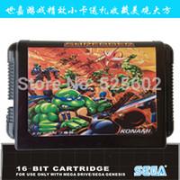 Wholesale 2015 Updated Video game latest SEGA SEGA MD cartridges teenage mutant ninja turtles The Hyperstone Heist