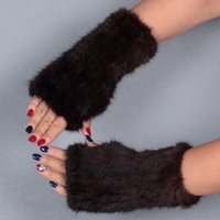 Wholesale Winter mink fur gloves for women high quality top selling fashion Gloves Mittens multi length warm lovely female Christmas gift