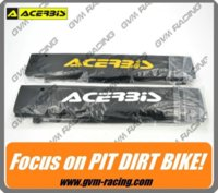 6 cm dirt bike shock absorber - 1 Pair of ACERBIS Front Fork Shock Absorber Cover Protector Guard Wrap Cover Set for Motorcycle Dirt Pit Bike M19537