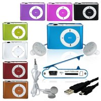 Wholesale Sport Mini Clip MP3 Player Colorful Mp3 Players Comes w Earphone USB Cables Support Micro SD TF Cards