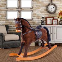 crafts for children - Luxury hessie Brand Rocking Horse High grade Hardwood Children Adult Ride on Toy Hand Made Craft For Years UPS