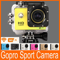 Wholesale Gopro Style Action Sport waterproof HD Mini Camera with Wifi Support Control by Phone Tablet P Full HD Sport Camera Inch Car DVR