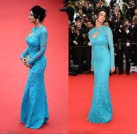 Cheap 2015 Red Carpet Dresses Best Long Sleeves Lace Red Carpet Dresses