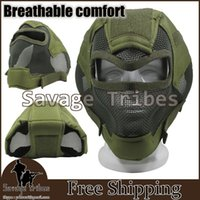 airsoft gun masks - Gen7 broad vision and tactical full face protection mask Airsoft BB guns and war games in camouflage face helmet OD