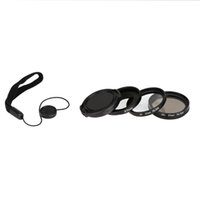 Wholesale New in1 Optical Glass mm Adapter Ring CPL Filter UV Lens Protecting Cap Rope Set for Gopro Hero HD