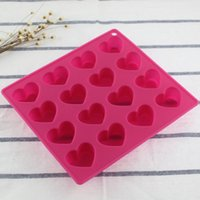 Wholesale Export the original single silicone baking mold with heart cookies love ice lattice mold jelly mold chocolate mold