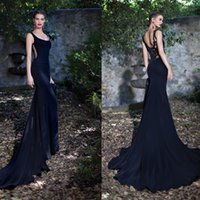 Cheap Tarik Ediz 2015 Mermaid Evening Gowns Red Carpet Dresses With Scoop Embroidery Backless Special Occasion Dresses For Women Abendkleider Gown