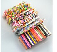 Wholesale 50 cane polymer clay nail art Stickers D fruit and flower Cutted rolls stamp decal tip cute printer DIY