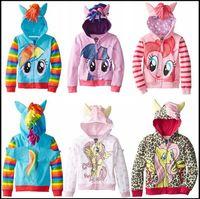 Wholesale 2015 kids my hoodies baby girl ponies hooded clothes girls zipper coat children outwear clothing J081107 C