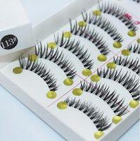 artistic hair - Japanese Natural Thick False Eyelashes Artistic Human Hair Best Fake Eyelash Extensions Supplies pairs1lot