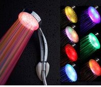 Wholesale Hot Sale Novelty Gifts Funny Bathroom Auto Color changing LED Flash shower head luminous led shower heads