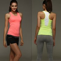 fitness wear training wear - 2015 HOT sale summer Women gym sports vest With Cup Padding Exercise Clothing running Fitness Training Wear sport wear