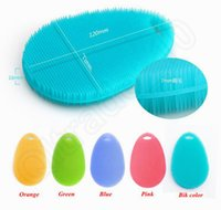 Wholesale Silicon Cleaning Brush - 2000PCS Colorful Silicon Vegetable and Fruit Scruber Brush Tableware Kitchen Multi-function Washing Clean Brush New 5 color LJJJ38