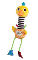 Wholesale Lamaze New two singing birds Toy flamingo and ostrich hand rods Bird plush baby toys Stuffed Doll L0391B