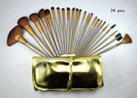 hair packaging - HOT NEW Makeup Brushes Nude piece Professional Brush sets Gold and Chocolate package gift