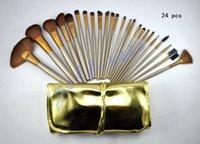 achat en gros de or 24 ensemble-NOUVEAU Maquillage HOT Brosses Nude 3 24 pièces Brosse Professional or et chocolat paquet + cadeau