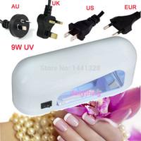 uv gel nail kit with light - US AU UK EU Plug W UV Nail Lamp Polish Dryer Lamp Gel Acrylic Curing Light Spa Kit V V V With Free UV Lamp