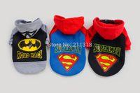 bat pets - XXL Pet Puppy Dog Doggie superman Warm Clothes bat man Apparel Costume fleece sweater Top T Shirt DropShipping