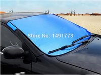 Wholesale Great Shinning Blue car sun shade Good Quality Cover for snow prevention sunblock frost provention front Window foil