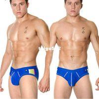 Cheap 1pcs mens sexy swimwear swim wear briefs swimming trunks sport swimsuits for men AC brand shorts beach surf sea penis gay wear