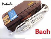 bach trumpets - Gratis pengiriman DHL Senior yang Perancis merek Silveriness bach tr gs kecil alat musik kelas profesional