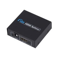 amplifiers hdmi switcher - V1 K K HDCP HDMI Splitter Full HD p Video HDMI Switch Switcher X2 Split in Out Amplifier Dual Display Hub For HDTV DVD PS3 Xbox
