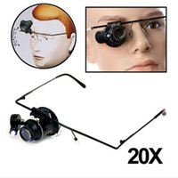 Wholesale 20X Magnification Glasses Type Watch Repair Magnifier with LED Light magnifying