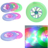 Wholesale LED Colorful Light Spin Flywheel Outdoor Flying Saucer Disc Frisbee Plastic Toys New Promotion