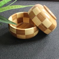 Wholesale 2pcs knit weaven Bamboo bowl kitchen dining tools for baby kids zabra design
