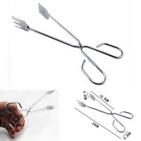 Cheap New Stainless Steel Food Leg Locking Grill Tong Scallop Tongs Clip BBQ