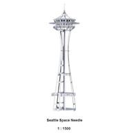 Wholesale Seattle Space Needle Assemble Miniature Metal D Model Metallic Nano Puzzle DIY Gift