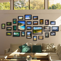 baby photos ideas - Black Good Wood Wall Frames Per Picture Frame Ideas set Used for Framed Family Baby Love Memory Home Photo Frame Set