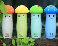 Wholesale Super cute Newest Design Mushroom Portable Portable Water Bottle Cup for Sport Bicycle Thavel Water Cup